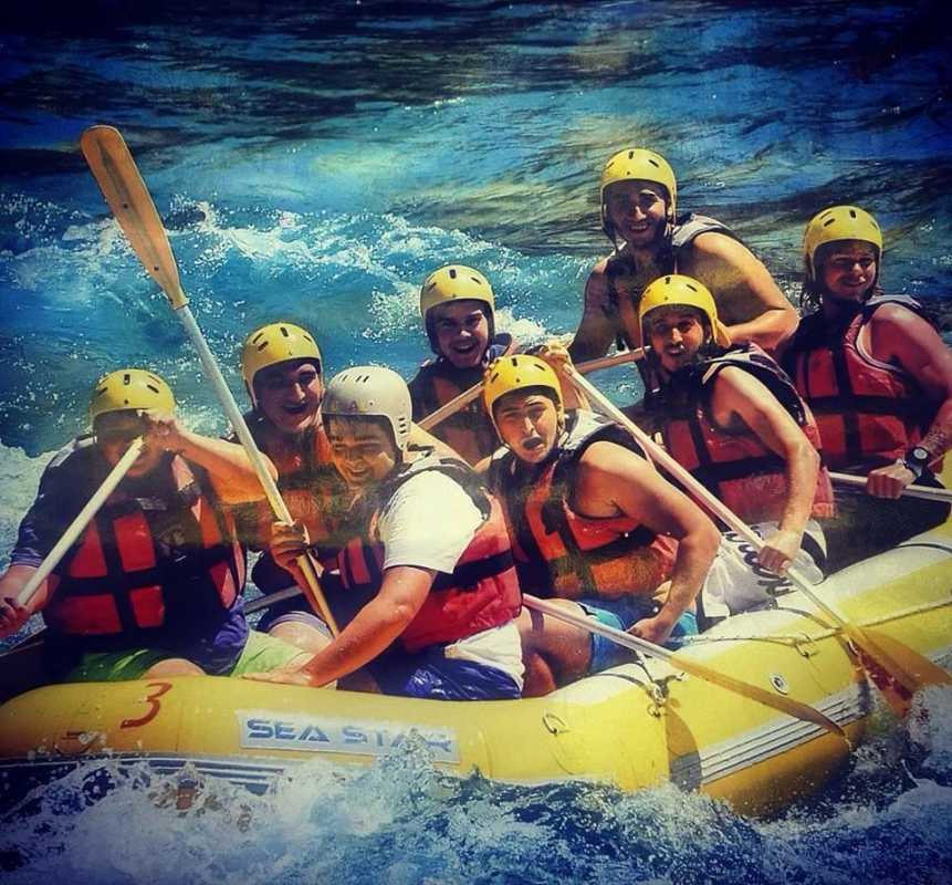 On the river in Tyrkia (rafting day)!